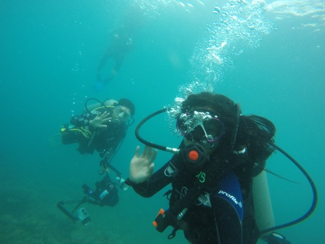diving with the Youngest UW Photographer in Asia