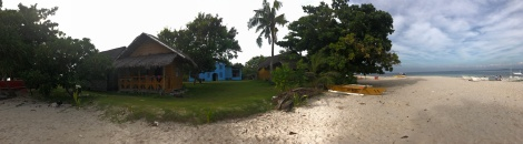 panoramic view with the cottage